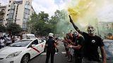 Graves incidentes en la huelga de taxis en Barcelona