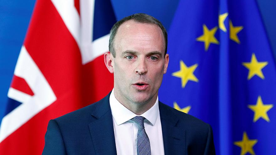 Britain's Secretary of State for Exiting the EU Raab in Brussels, 19 July
