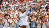 الأمريكية سيرينا ويليامز تحتفل بالفوز على يفجينيا رودينا والتأهل
