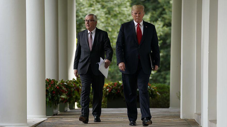 Jean-Claude Juncker et Donald Trump à la Maison Blanche