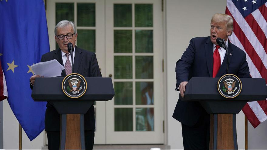Trump meets with European Commission President Juncker