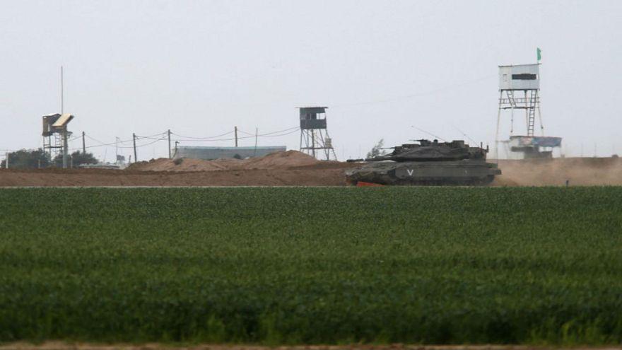 دبابة إسرائيلية على الحدود مع قطاع غزة.