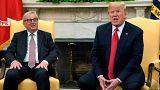 الرئيس الأمريكي دونالد ترامب وجان كلود يونكر رئيس المفوضية الأوروبية