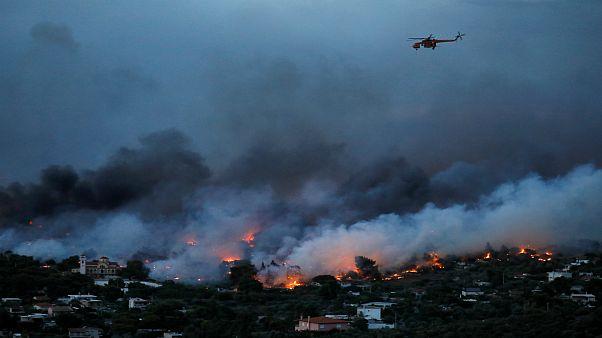 آتشسوزی یونان یکی از مرگبارترین حریقهای قرن