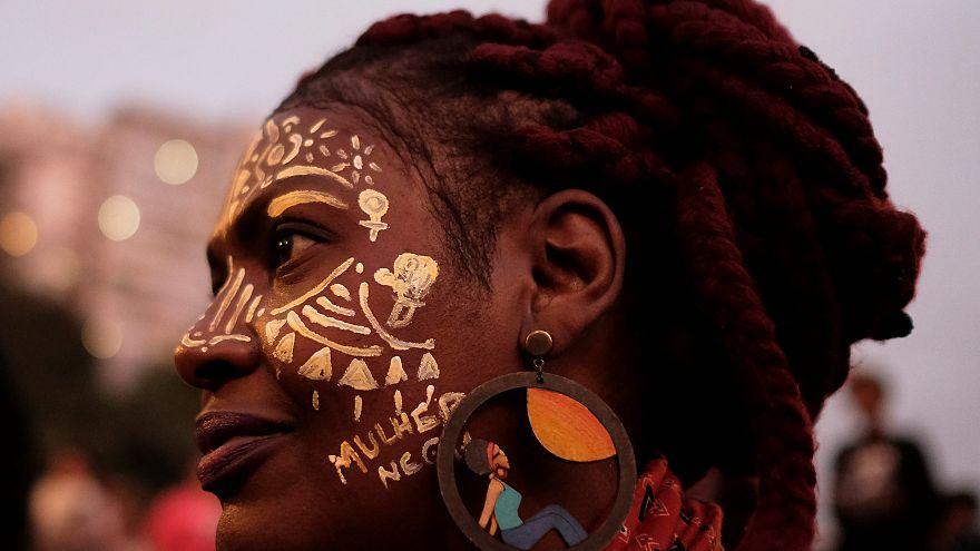 Protest gegen Gewalt an schwarzen Frauen in Brasilien