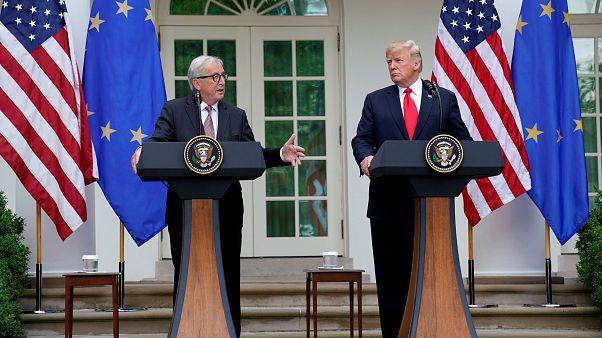 Les présidents de la Commission européenne et des Etats-Unis