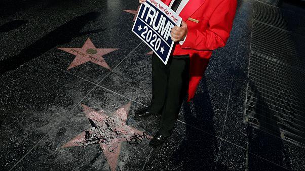 Megrongálták Trump emléktábláját Hollywoodban