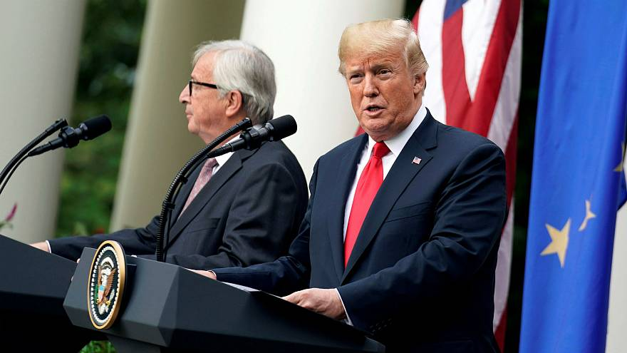 Watch: Juncker appears to shun Trump's hand of friendship
