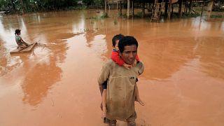 Прорыв дамбы в Лаосе