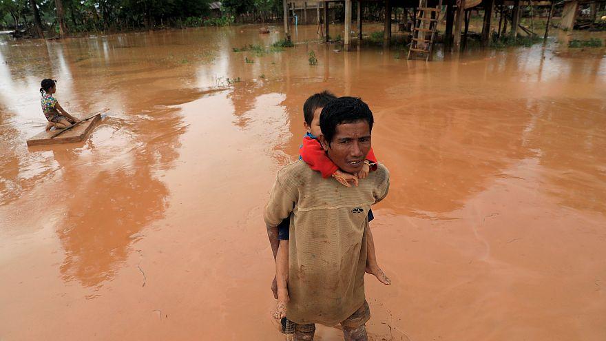 La rotura de una presa provoca una situación caótica en Laos