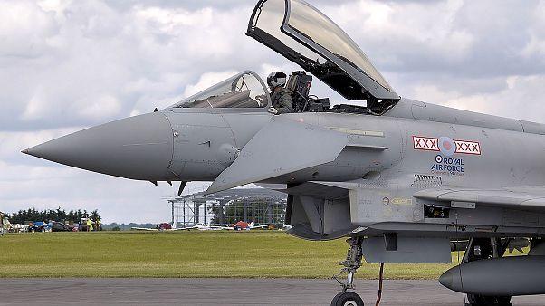 صورة لطائرة من نوع يوروفايتر تايفون تابعة لسلاح الجو الملكي