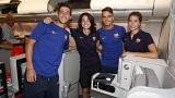 FC Barcelona's first mixed flight triggers uproar over men and women's seating arrangements