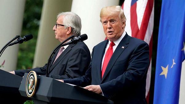 Video: Weist Juncker Trumps freundschaftliche Hand zurück?