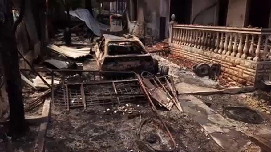 """""""Indicios de actos criminales"""" en los fuegos de Grecia"""