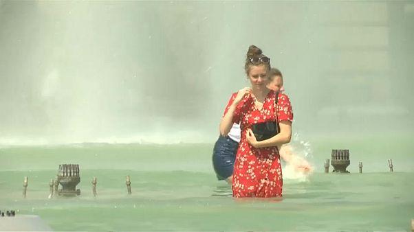 موج گرما اروپا و فرانسه را در مینوردد