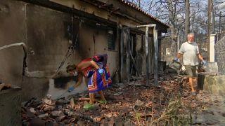 Πυρκαγιές Αν. Αττική: Οι εικόνες της καταστροφής