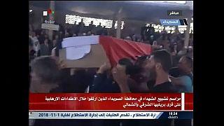 سوریه؛ مراسم خاکسپاری قربانیان حملات داعش در سویدا
