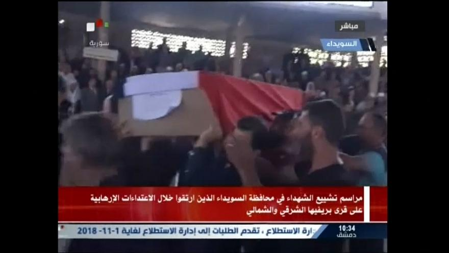 Syria: Mass funeral after deadliest onslaught in Sweida