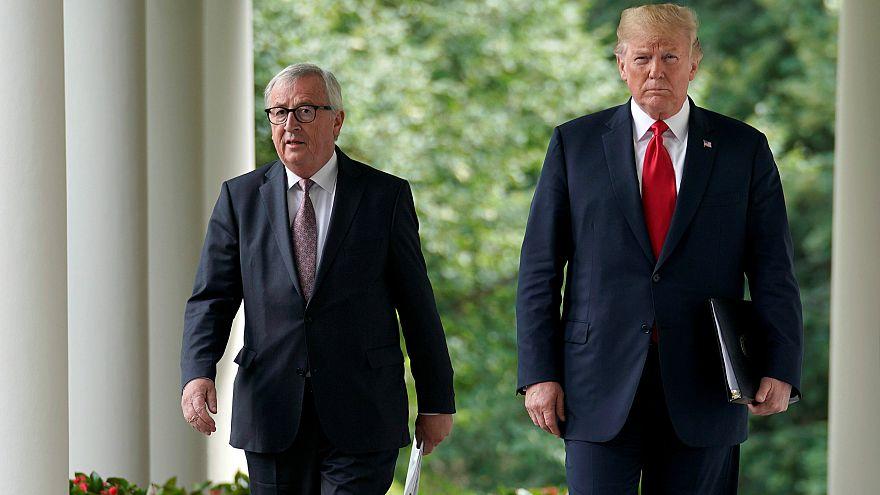 Jean-Claude Juncker ve Donald Trump Washington'da biraraya geldi.