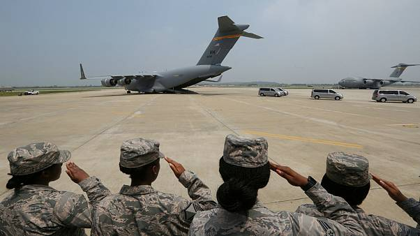 N.Korea returns remains of U.S. solders killed in Korean War