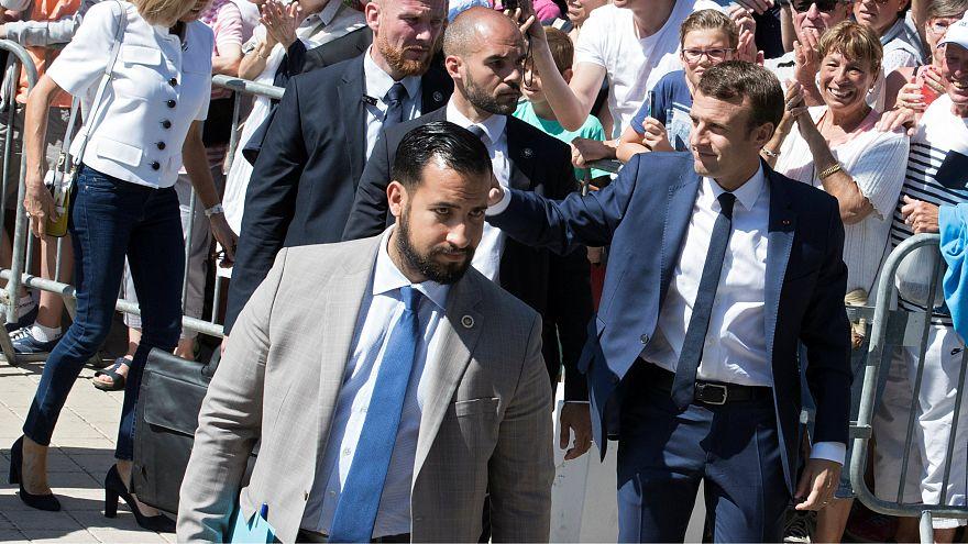 Fransa Cumhurbaşkanı Macron ve danışmanı Benalla
