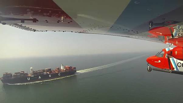 Belgian coast guard plane 'sniffs' out air pollution