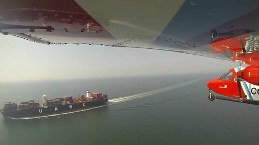 Belgian coast guard plane 'sniffs' out air pollution