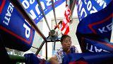 Trump'ın 2020 seçimleri için kampanya bayrakları Çin'den