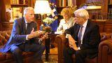 Ο διαπραγματευτής της ΕΕ για το Brexit Μ.Μπαρνιέ με τον ΠτΔ Πρ.Παυλόπουλο
