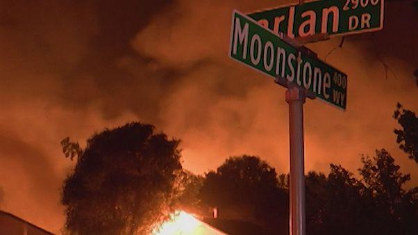 Le nord de la Californie en proie aux flammes