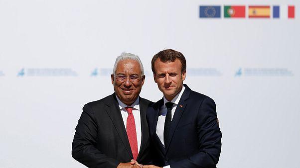 Emmanuel Macron e António Costa debatem a Europa em Lisboa