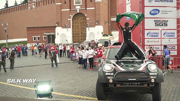 رالی راه ابریشم، یزید راجحی قهرمانی را در میدان سرخ جشن گرفت