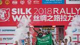 Yazeed Al Rahji wins the 2018 Silk Way Rally