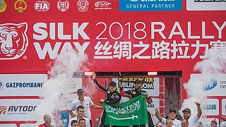 Yazeed Al Rahji wins the 2018 Silk Way Rally