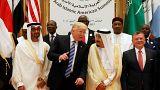 صورة أرشيفية لترامب خلال زيارته للسعودية في أيار 2017