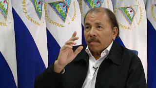 Presidente da Nicarágua, Daniel Ortega em entrevista à Euronews