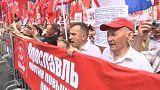 Protestas en Rusia contra el retraso de la edad de jubilación