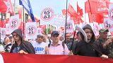Protestos na Rússia contra planos de aumento da idade de reforma