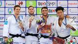 Die vier Medaillengewinner der Judo-Wertung bis 81kg