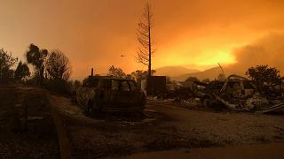 Kaliforniya'daki orman yangını: Ölü sayısı 5'e yükseldi