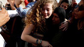 Hazaengedték a börtönből Ahed Tamímít