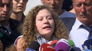 Palästinensische Aktivistin Ahed Tamimi  (17) aus der Haft entlassen
