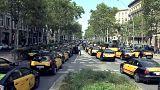 La huelga del taxi contra Uber y Cabify se extiende por toda España