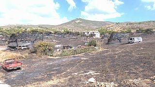 Yunanistan'da yangının başladığı yörenin sakinleri: Hortumla su tuttuk söndüremedik