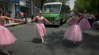 Quando o bailado é no meio do trânsito
