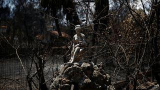 Egy tűzoltó hathónapos kisfia is meghalt a görög erdőtüzekben