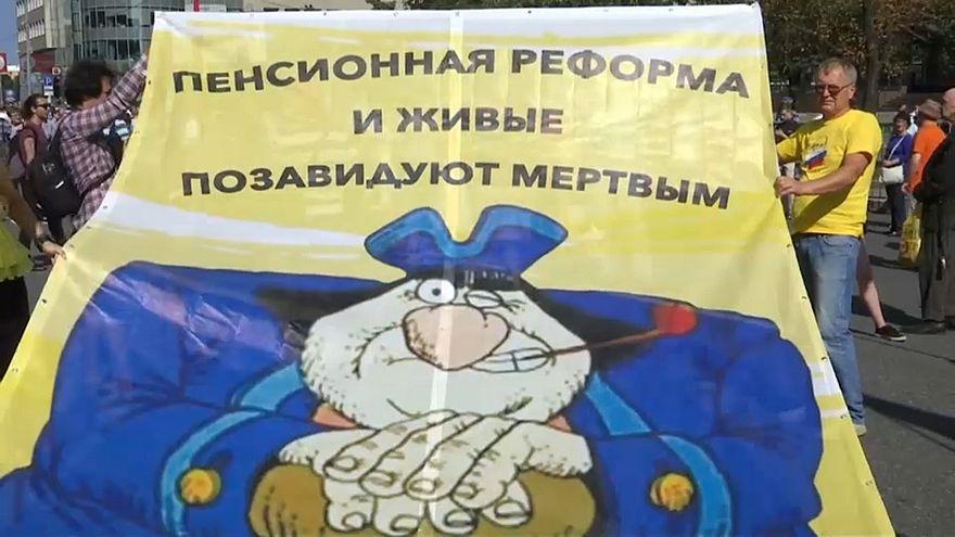 Выходные пенсионных протестов