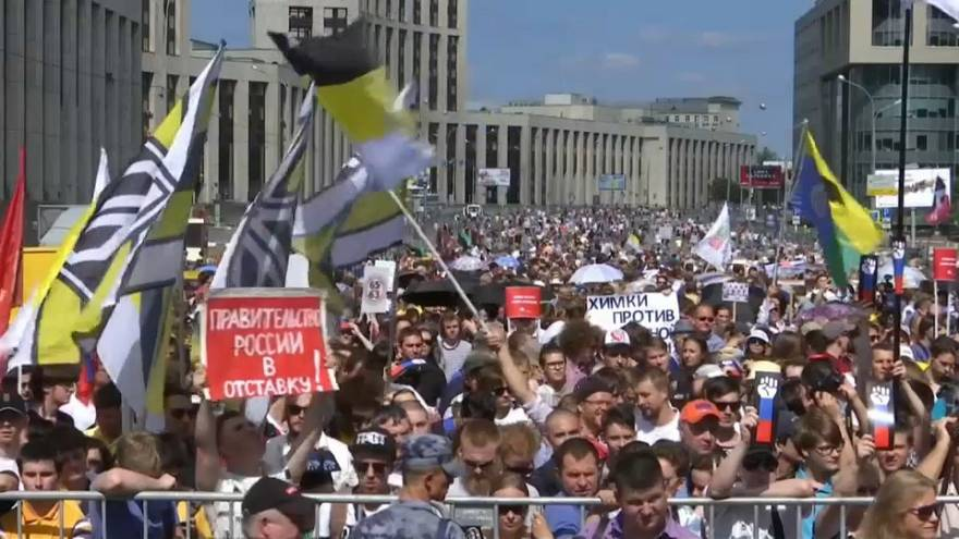 Russian protests continue over pension reform