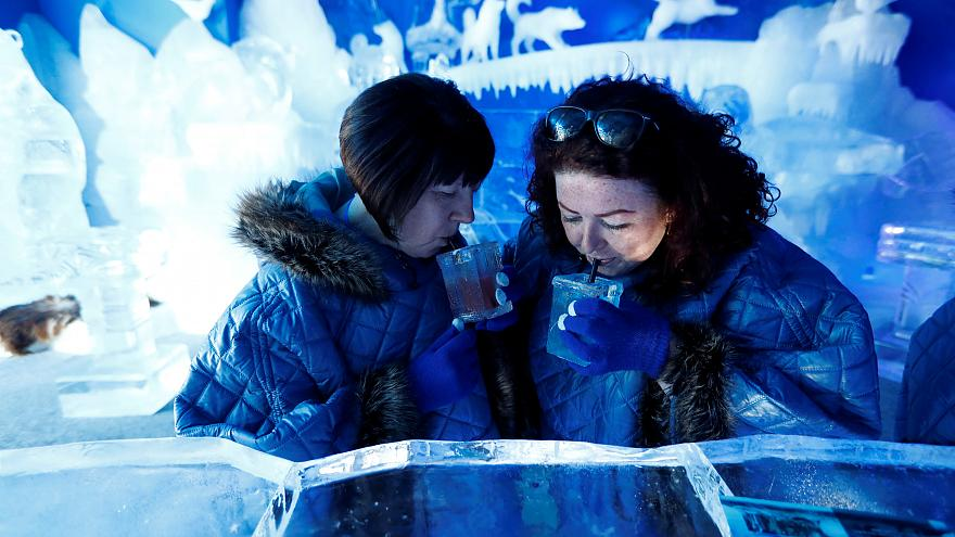 حانة جليدية في العاصمة الألمانية برلين