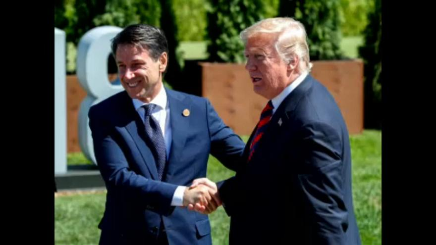 Giuseppe Conte trifft Donald Trump
